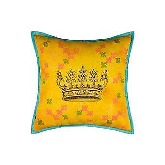 Crowning Glory Queen Throw Pillow Cover