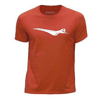 STUFF4 Boy's Round Neck T-Shirt/Aeroplane / BAC Concorde/Orange