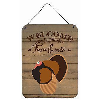 Bronze Turkey Welcome Wall or Door Hanging Prints