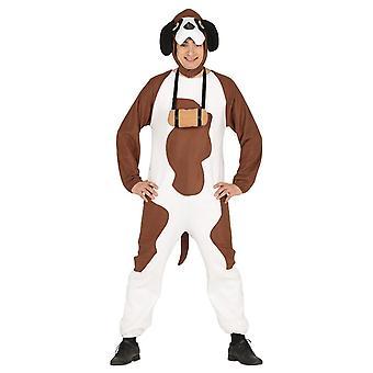 Mens Saint Bernard Hond Fancy Dress Kostuum