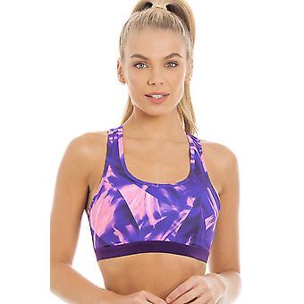 Камиль Женская стильная спортивная фиолетовый & розовый спортивный бюстгальтер