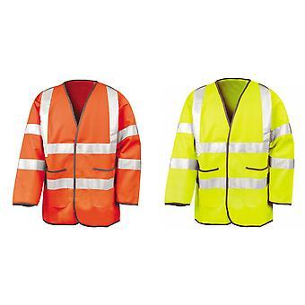 Resultado para hombre alta visibilidad autopista seguridad chaqueta (EN471 clase 3 aprobado)