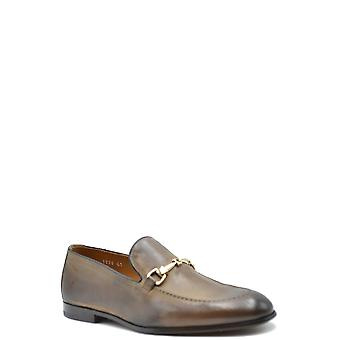Doucal's Ezbc089037 Men's Brown Leather Loafers