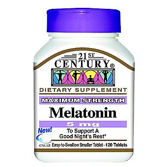 21st century melatonin, 5 mg, maximum strength, tablets, 120 ea