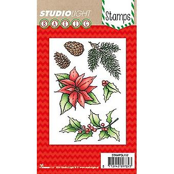 Studio Light A6 Clear Stamp Poinsettia Number 152