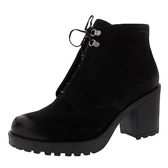 Womens Vagabond Grace Suede Black Fashion Work Block Heel Ankle Boots