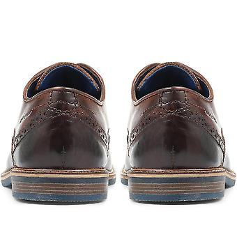 Bugatti Leather Wing-Tip Derby Brogues