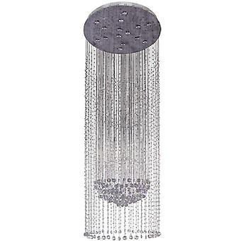 Glasberg - Chrome et cristal lustre lumière quinze 244016015
