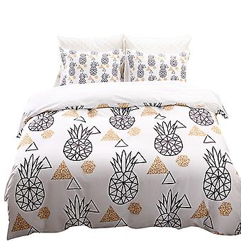 Bed linen printed quilt cover, soft quilt cover set with a pillowcase, bedroom single bed