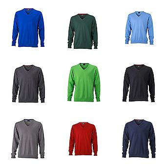 James and Nicholson Mens v-Neck Pullover