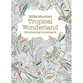 Millie Marottas Tropical Wonderland Postcard Book  30 beautiful cards for colouring in by Millie Marotta