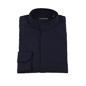 Emporio Armani 51c58l51gc1920 Chemise en coton bleu