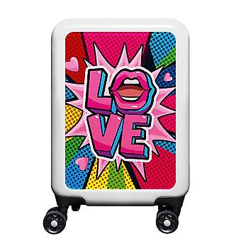 myTrolley Love S, 4 rollen, 55 cm, 32 L, Wit