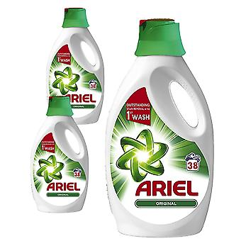 Ariel Original Washing Liquid Detergent do prania Usuwanie plam 3 x 1330ml
