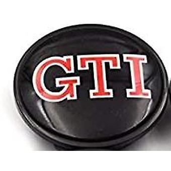Black/RED VW Volkswagen GTI Wheel Centre Cap Hub Badge 65mm 1PCS For Golf Jetta Passat Tiguan Beetle CC EOS
