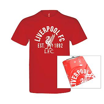 Liverpool FC Established 1982 Youth Kids Football Soccer T-Shirt Tee Red