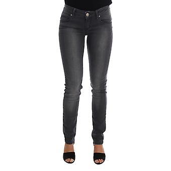 The Chic Outlet Gray Cotton Slim Fit ACHT Denim Jeans
