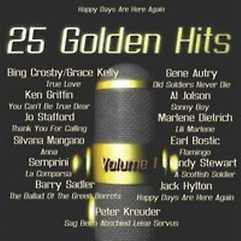 Various Artist - 25 Golden Hits of the 40's - 50's Vol. 1 [CD] USA import