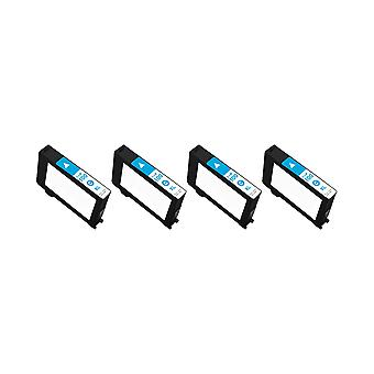 RudyTwos 4x Replacement for Lexmark 100XL Ink Unit Cyan Compatible with Impact S300, S301, S302, S305, S308, Interact S601, S602, S605, S606, S608, Interpret S402, S405, S408, S409, Intuition S502, S5