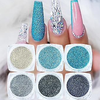 Nail Glitter Set Holographic Laser Nail Powder - Flake Manicure Ultra Thin Nail