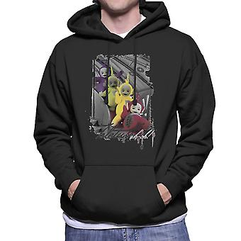 Teletubbies Slide Greyscale Men's Hooded Sweatshirt