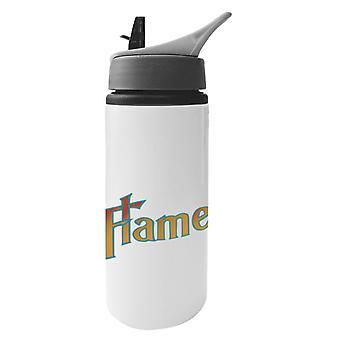 Botella de agua de aluminio Slade In Flame con paja