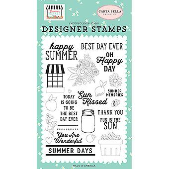 Carta Bella Happy Summer Clear Stamps