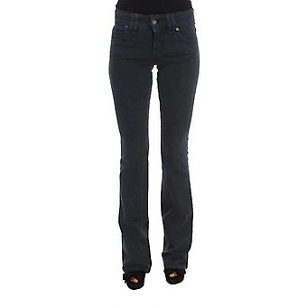 Galliano Blue Wash Cotton Blend Slim Fit Bootcut Jeans -- SIG3549808