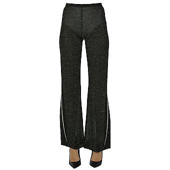 Acne Studios Ezgl151065 Mujeres's Pantalones de Viscosa Negro