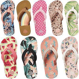 Reef Kids Girls Ahi Summer Slip On Beach Pool Holiday Flip Flops Sandálias