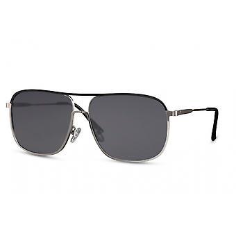 النظارات الشمسية الرجال بانتو كامل حافة كات. 3 فضة / أسود