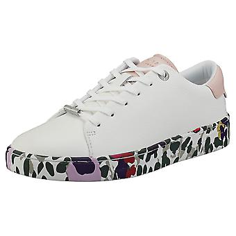 Ted Baker Weni Wilderness Printed Sole Womens Fashion Trainers in White