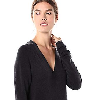 Marca - Daily Ritual Women's Mid-Gauge Stretch V-Neck Sweater Dress,...