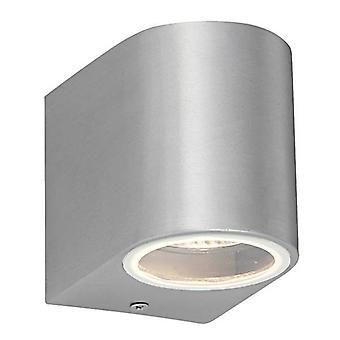 1 Ljus utomhus vägg ljus borstad legering, glas IP44, GU10