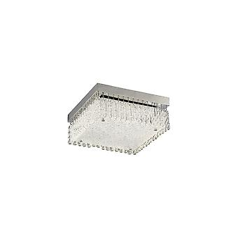 inspirert diyas - aiden - liten firkantet flush tak 18W 1700lm LED 4200k polert krom, krystall