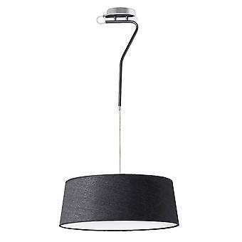 3 Lichte plafondhanger chroom, zwart met schaduw, E27