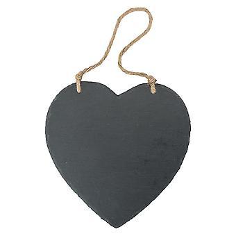 Stort hängande hjärta Skiffer Chalk Board / Black Board - Förpackning med 6