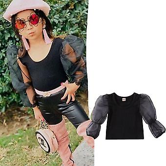 Baby Girl Clothes Long Lace Puff Sleeve Top Blouse
