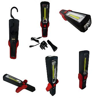 Hyfive 5w cob rechargeable led torch work light high powered bright led torch with 12v charger