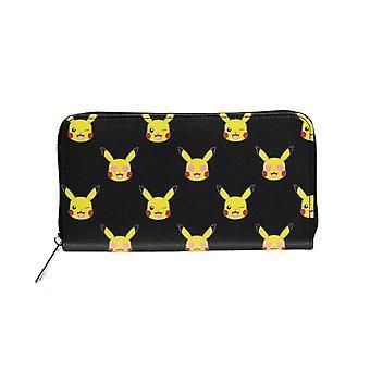 Pokemon Pikachu AOP Zip Rundt Svart Clutch Vesken