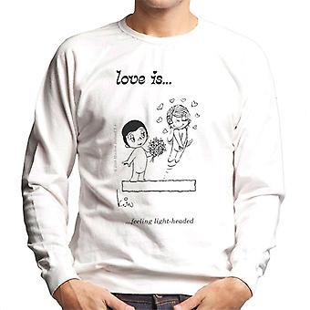 Liebe fühlt sich leicht Kopf Männer's Sweatshirt