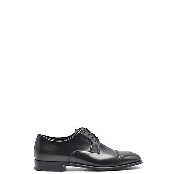Prada Ezbc021039 Men's Black Leather Lace-up Shoes
