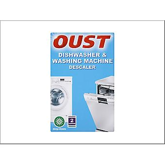 Dylon Oust Dishwasher, Washing Machine Cleaner/ Descaler x2