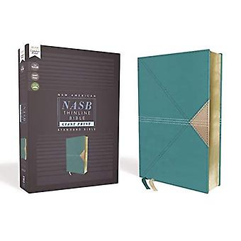 NASB, Thinline Bible, Giant� Print, Leathersoft, Teal, Red Letter Edition, 1995 Text, Comfort Print