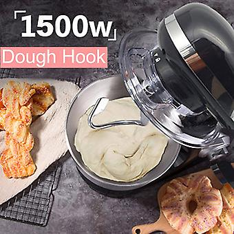 1500W  5L Stainless Steel Bowl 6-speed Kitchen Food Stand Mixer Cream Egg Whisk Whip Dough Kneading Mixer Blender