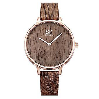SK K0078 Creative femmes Montre-bracelet Simple Design Cuir Strap Quartz Montres