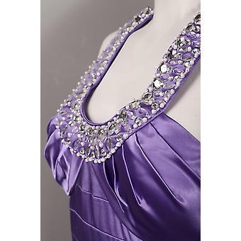 שמלת סאטן עם כתפיים מפותלות