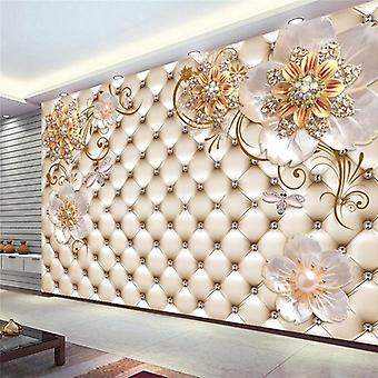 3d Mural European Style Crystal Flower Photo Wall Painting Living Room Theme