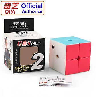 Qiyi Warrant 2x2 Speed Magic Cube Stickerless 2x2x2 Cubo Magico Puzzle