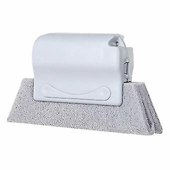 Brosse de nettoyage d'écart de rainure de ménage de havre - gris